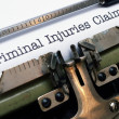 Criminal injuries claim — Stock Photo #28569431