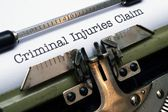 Criminal injuries claim — Stock Photo