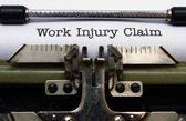 Work injury claim — Stock Photo