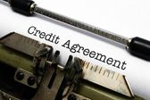 Credit agreement — Stock Photo