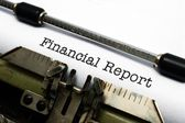 Financial report — Stok fotoğraf
