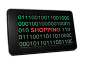 Shopping concept on PC tablet — Stock Photo