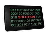 řešení koncepce na pc tablet — Stock fotografie