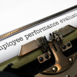 Stock Photo: Employee performance evaluation