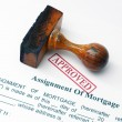 Assignment of mortgage — Stock Photo