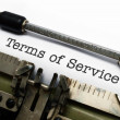 Terms of service — Stock Photo