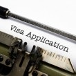 VIsa application — Stock Photo
