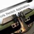 Stock Photo: Work permit application