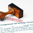 Stock Photo: Assignment of savings account