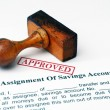 Assignment of savings account — Stock Photo
