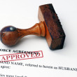 Divorce agreement - approved — Stock Photo