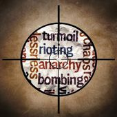 Rioting anarchy bombing — Stock Photo