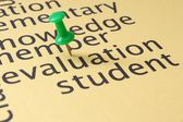 Evaluation student concept — Foto Stock