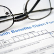 Stock Photo: Health claim form