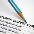 Customer survey card — Stock Photo
