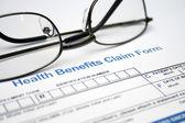 Health claim form — Stock Photo