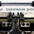 Stock Photo: Car insurance policy