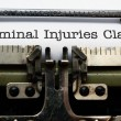 Stock Photo: Criminal injuries claim form