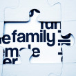 Stock Photo: Family puzzle concept