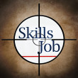 Job skills target concept — Stock Photo
