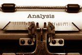 Conceito de análise — Foto Stock
