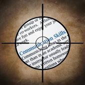 Communication skills target — Stock Photo