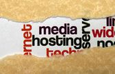 Media hosting concept — Stock Photo