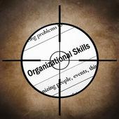 Organizational skills target — Stock Photo