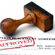 Adoption placement agreement — Foto Stock