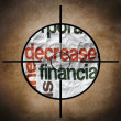 Stock Photo: Decrease finance target