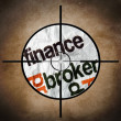 Finance broker target — Stock Photo