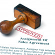 Assignment of sales agreement — Stock Photo