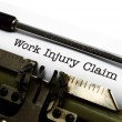 Stock Photo: Work injury claim