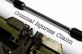 Criminal injury claim — Stock Photo