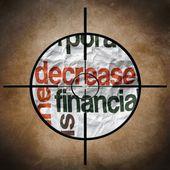 Finanzen-ziel zu verringern — Stockfoto