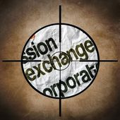 Exchange target concept — Stock Photo
