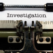 Stock Photo: Investigation