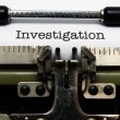 Investigation — Stock Photo #29992069