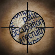 Stock Photo: Occupation target concept