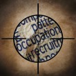 Foto de Stock  : Occupation target concept