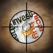 Invest fall target concept — Stock Photo #29992287
