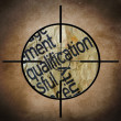 Stock Photo: Qualification target concept