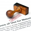 Stock Photo: Terms of use websites