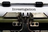Investigation — Stock Photo