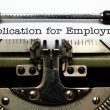 Application for employment — Stock Photo