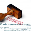 Stock Photo: Trade agreement contract