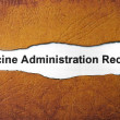 Stock Photo: Vaccine administration record