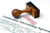 Publication advertising agreement — Stock Photo