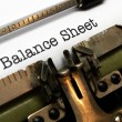 Stock Photo: Balance sheet