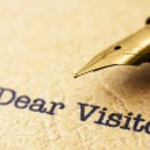 Dear visitor — Stock Photo